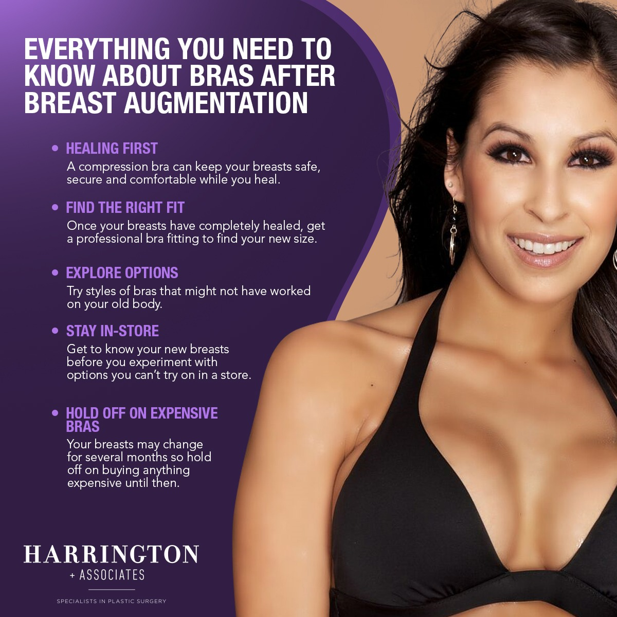 Everything You Need To Know About Bras After Breast Augmentation [Infographic]